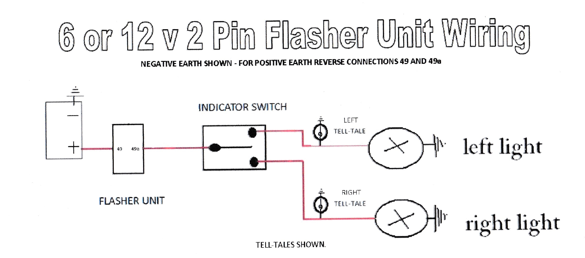 wiring diagrams to assist you with connecting up rh dynamoregulatorconversions com 2 pin indicator relay wiring diagram audew 2 pin flasher relay wiring diagram